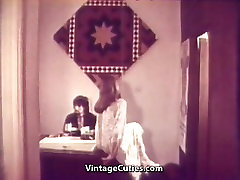 Girl Worshipping a Nice Photographer&039;s Cock 1960s Vintage