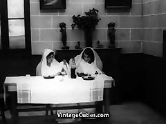 Lesbian Nuns Servicing Visitor&039;s Cock 1920s 1920s Vintage