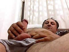 Daddy plays with his dick