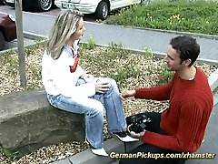 pickup young german teen for rough anal sex