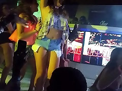Girls dancing on stage at the club