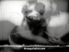Wife Busts Hubby with Maid and Fuck Her 1940s Vintage