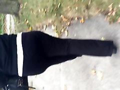 Big ghetto booty black MILF in black sweats