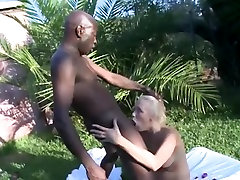 Blonde Takes Black Cock In Her Pussy & Ass