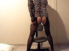Pantyhose bitch in heels ready for fuck