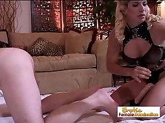 Mistress Sabrina Dominates Her Slaves Asshole