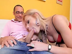 Hot cocky shemale takes big cock in all holes