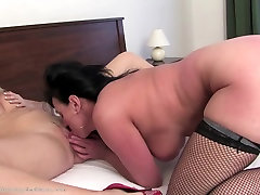 Taboo home story with old and young lesbians