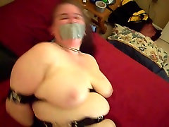 Amateur girl in secure bondage