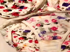 Floral bra and panties cum