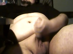 Young chubby boy shows off his body and jerks his fat dick