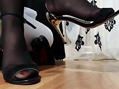 Closeup of gorgeous nyloned feet 2