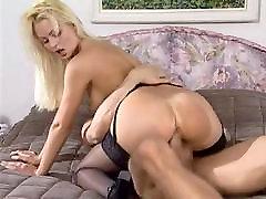 Nikki Anderson fucking in black stockings