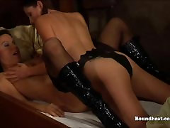 Horny white slave dreams about being fucked by her mistresse