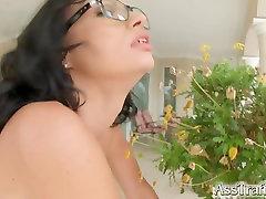 AssTraffic Ass fucked brunette gets cum load all over her