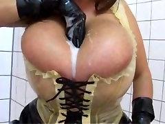 Latex Milf Milena Huge Natural Tits