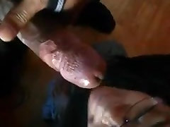 Black Chick Slopping On Dick