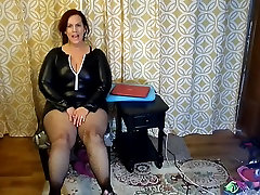 Sexy Mature BBW Try On Naughty Halloween Costumes and Heels