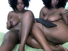 2 Big boobed ebonies