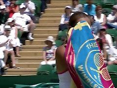 Tennis Hottie Tara Moore with Sweaty Cleavage