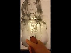 S Poole cum tribute 4 on her big tits