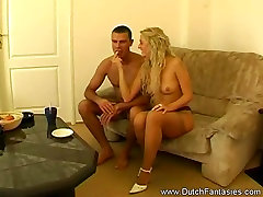 Blonde Dutch Retro MILF FuckRough sex is in store for this b