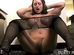 Nikki Jackson Big Tits and Stockings Masturbation