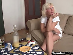 Sexy blonde mature double penetration