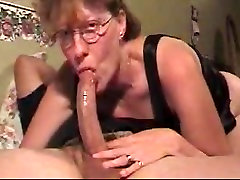 slut mom sucks cock & swallows my load