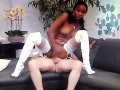 Ebony fuck in heigh boots
