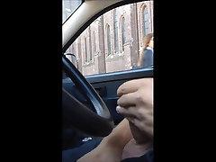 Dick flashing in car 10 - she looks