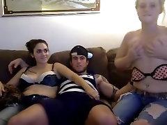 Dream threesome on webcam