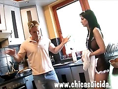 Gorgeous maid takes revenge on her boss