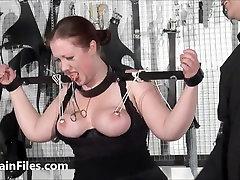 Bbw slave RosieB tit tortured and sadistic amateur bdsm of f