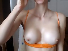 Big round firm tits boobs hard pokey nipples