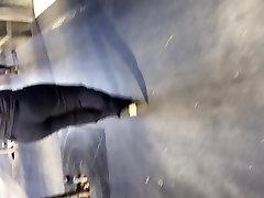 Big booty milf in dark grey dress pants 2