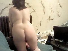Horny Chubby with nice tits showing her wide ass