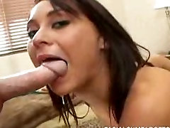Tight brunette blowing