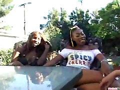 Sexy Ebony Lesbians Have Fun