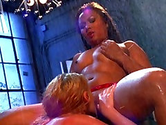 Big tit Sophie Dee gets pussy pleasured by asian hottie