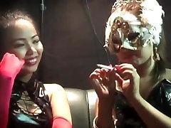 Two asian hotties smoking