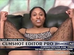 Nasty Ebony Slut Roughly Gagged