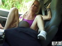 Halle Von Must Endure Domination, Outdoor Rough Sex & Bondage for a Ride
