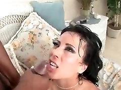 Horny MILF Honey White fucks a big black cock