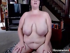 Chunky midwest MILF Cherry with monster boobs