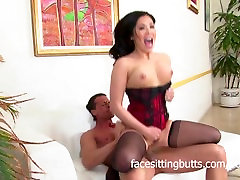 Asian slut in lingerie fucked really hard in the pussy