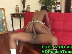 Sexy Ebony Gets Fucked In The Rear - WWW.HDPunishTube.com
