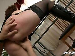 Big Boobed Brunette MILF Roberta Has Her Ass Fucked Hard