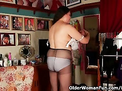 Busty milf Denise Davies is getting ready for her date