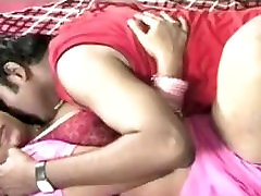 Indian Aunty With Her Husband Romantic Scene